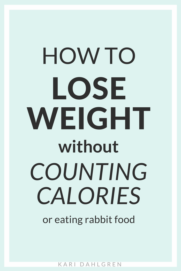 Losing weight by counting calories SUCKS. If you've been there, done that, and failed - then this article is for you. It utilizes a simple guideline for healthy eating that's sustainable and - no - does not require rabbit food