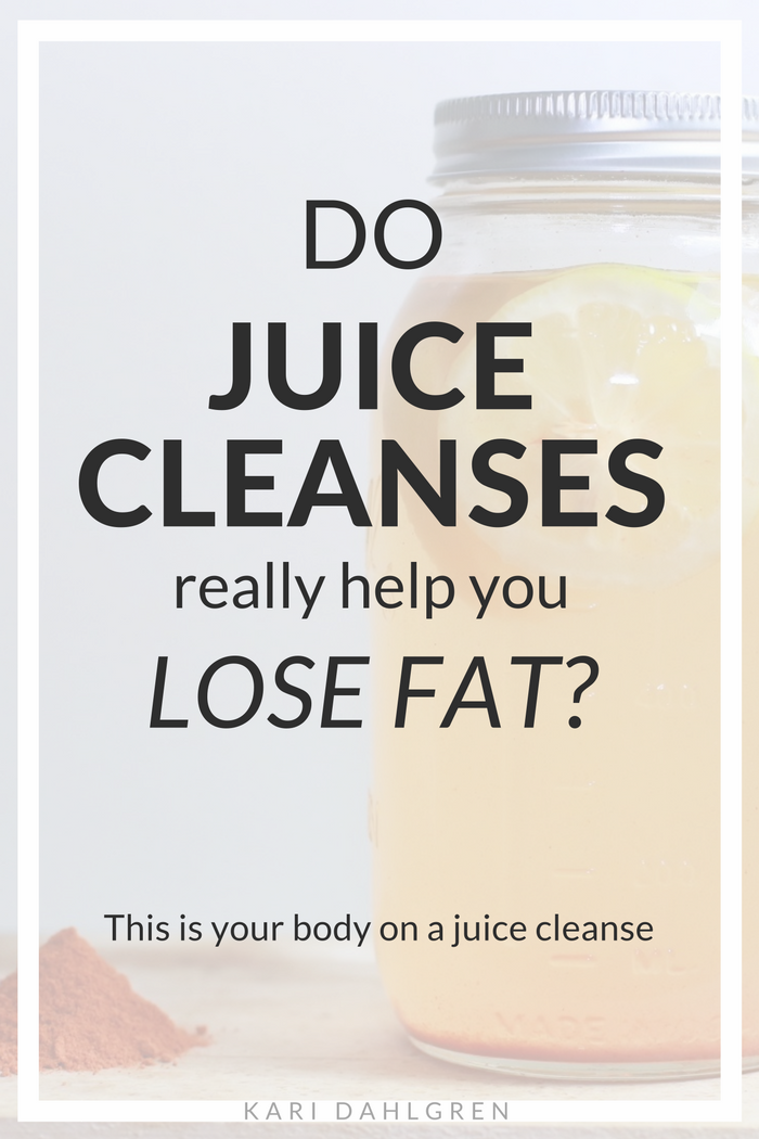 Learn how juice cleanses lead to TEMPORARY weight loss. This is your body on a juice cleanse - and it's not pretty.