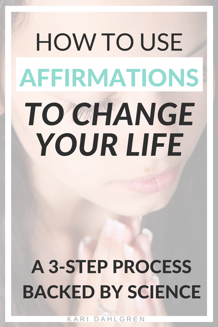 Affirmations can help create the changes that you want to see in your life. Here's the hard science behind how affirmations work and a 3-step system than you can start practicing today