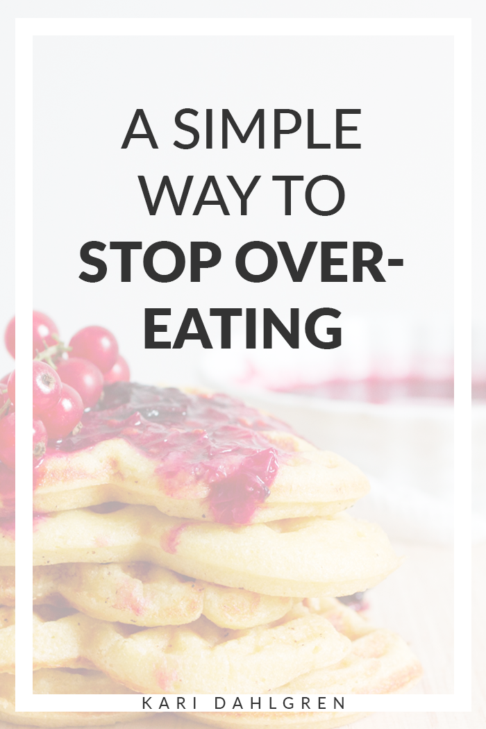 stop overeating tips